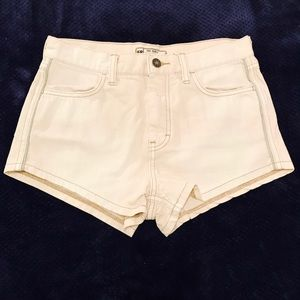 NWOT Free People White Denim Shorts!